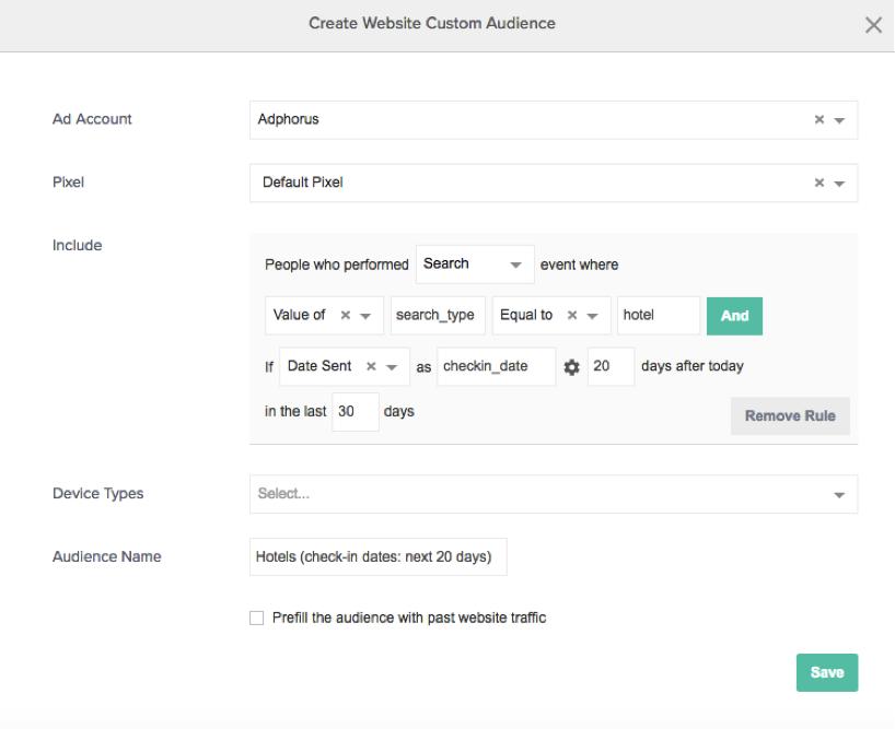 enhanced website custom audiences - example2